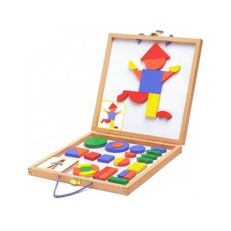 funKids 法國 磁性積木拼圖雙面畫板