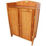 實木製-雙門兩層-置物櫃/鞋櫃/玄關櫃/收納櫃