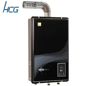 和成 GH596BQ強制排氣屋內大廈型智慧型恆溫熱水器16L(黑色面板) 天然瓦斯