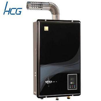 和成 GH596BQ強制排氣屋內大廈型智慧型恆溫熱水器16L(黑色面板) 桶裝瓦斯