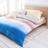 【Betrise萊橙】加大100%奧地利天絲TENCEL八件式兩用被床罩組