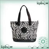 【Kipling】COMBO系列 漆皮底水餃肩背兩用購物包 斑馬 K-374-2272-048