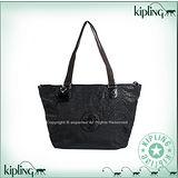 【Kipling】BASIC系列 水餃兩用肩背托特包 蜂巢黑 K-374-2275-046