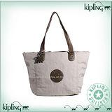 【Kipling】BASIC系列 水餃兩用肩背托特包 淡棕色 K-374-2275-741