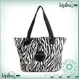 【Kipling】BASIC系列 水餃兩用肩背托特包 斑馬 K-374-2275-048