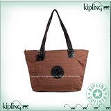 【Kipling】BASIC系列 水餃兩用肩背托特包 神木棕 K-374-2275-744