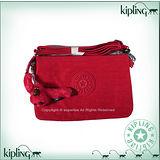 【Kipling】BASIC系列 大三夾層斜背包 番茄紅 K-374-5155-153