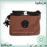 【Kipling】BASIC系列 大三夾層斜背包 神木棕 K-374-5155-746