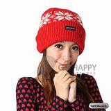 SNOWTRAVEL 3M防風透氣保暖羊毛帽(雪花紅)