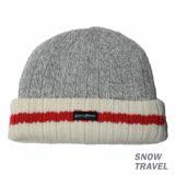 SNOWTRAVEL 3M防風透氣保暖羊毛帽(條紋淺灰)