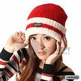SNOWTRAVEL 3M防風透氣保暖羊毛帽(條紋紅)