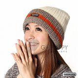 SNOWTRAVEL 3M防風透氣保暖羊毛帽(條紋白)