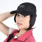 [SNOW TRAVEL] 格紋防風遮耳棒球帽(雙層設計)(黑色)