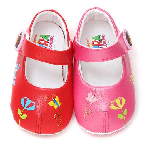 童鞋城堡-朵拉小童刺繡蝴蝶學步鞋DR87054