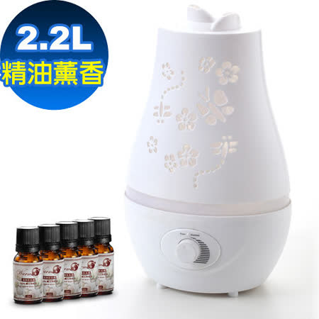 Warm雙噴頭香氛負離子超音波水氧機(W-220白)