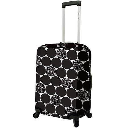《DQ》24吋行李箱套(黑普普)