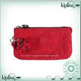 Kipling 比利時品牌Basic系列 方便攜帶3夾層零錢包 中 番茄紅 K-374-3265-153