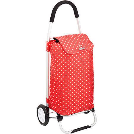 《KitchenCraft》保冷摺疊購物車(紅點)
