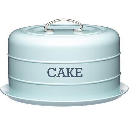 《KitchenCraft》復古蛋糕密封盤(藍)