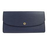 Louis Vuitton M60715 EMILIE新款 EPI 皮革壓紋多功能長夾.藍_現貨