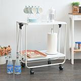 【ikloo】多功能折疊工作車/餐桌