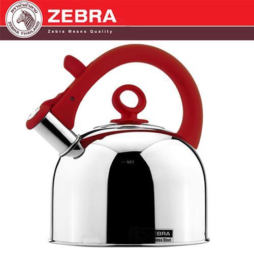 斑馬 ZEBRA 304不鏽鋼形象粉彩笛音壺^(艷彩紅^) 3.5L