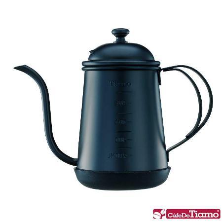 Tiamo 1405細口壺(附刻度標)-黑色 700ml (HA1655BK)