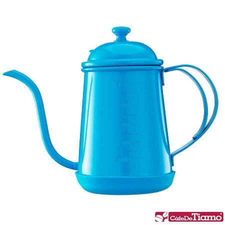 Tiamo 1405細口壺(附刻度標)-藍色 700ml (HA1655BL)