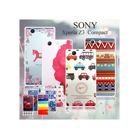 VXTRA Sony Xperia Z3 Compact 4.6吋藝術彩繪保護殼 背蓋