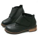 【Moscova】復刻獨特魔術貼大木根短靴-黑色