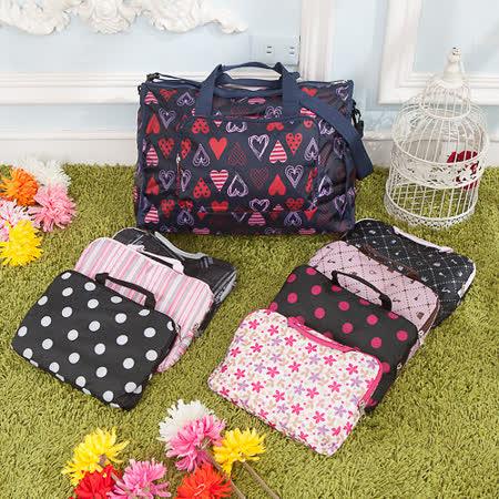 【AOU微笑旅行】輕量旅行袋 折疊行李袋 可掛旅行箱(任選1枚101-002)