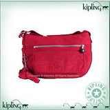 【Kipling】BASIC前口袋彎月斜背包 番茄紅 K-374-3163-153
