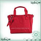 【Kipling】BASIC系列 水餃硬弧底手提斜背保齡球包 番茄紅 K-374-5371-153