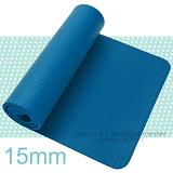 【VOSUN】※SGS國際認證※ NBR 專業單人雙壓紋瑜珈墊.睡墊(15mm) 贈送(束袋二條 .進口瑜珈袋) 土耳其藍