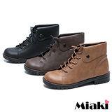 (現貨+預購)【Miaki】MIT 韓式英倫低跟牛津靴短靴馬汀靴 (咖啡/棕色/黑色)