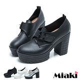 (現貨+預購)【Miaki】MIT 韓系潮流扣環高跟厚低包鞋踝靴短靴 (白色/銀色/黑色)