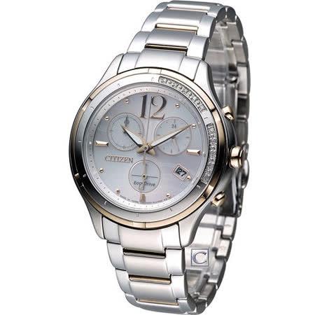 CITIZEN 星辰 Eco-Drive L系列自然禮讚時尚鑽錶 FB1375-57A