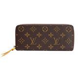 Louis Vuitton LV M60744 CLEMENCE 經典花紋拉鍊長夾.黃_預購