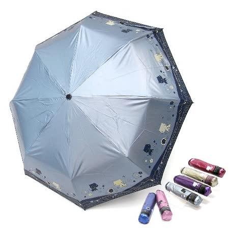 【好傘王】手開傘系_防曬限定版晴雨兩用大頭貓蛋捲傘(6色可選)