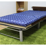 KOTAS大青對目竹面冬夏透氣床墊 單人 三尺 藍菱格紋