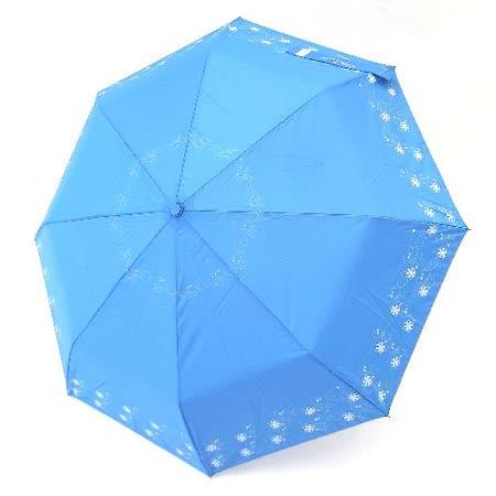 【好傘王】自動傘系_花漫飛舞國民傘(寶藍色)