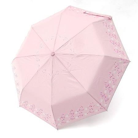 【好傘王】自動傘系_花漫飛舞國民傘(粉紅色)