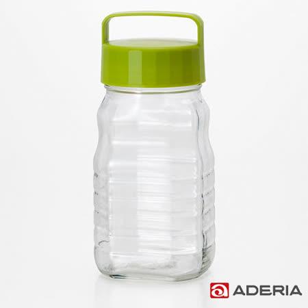 【ADERIA】日本進口玻璃梅酒瓶1200ml(綠)
