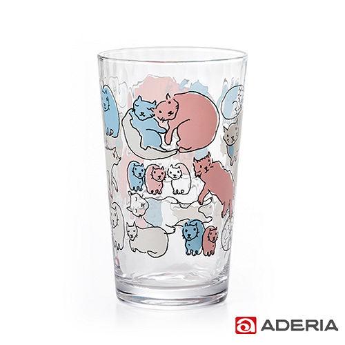 ~ADERIA~ Instyle貓咪玻璃杯225ml^(紅藍^)