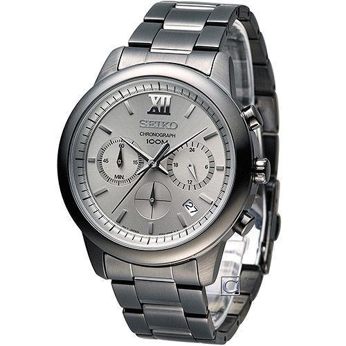 SEIKO 精工 移動迷宮計時腕錶 6T63-00N0SD SSB141P1