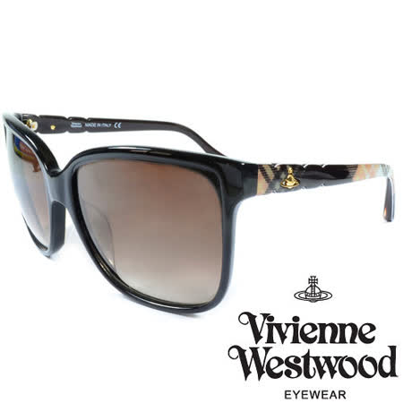Vivienne Westwood 英國薇薇安魏斯伍德經典土星多彩格紋太陽眼鏡 VW85301