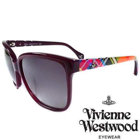 Vivienne Westwood 英國薇薇安魏斯伍德經典土星多彩格紋太陽眼鏡 VW85302