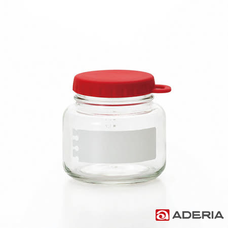 【ADERIA】日本進口易開玻璃保鮮罐320m(紅)