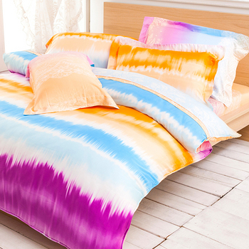 Betrise《絢影情彩》雙人100%天絲TENCEL四件式兩用被床包組