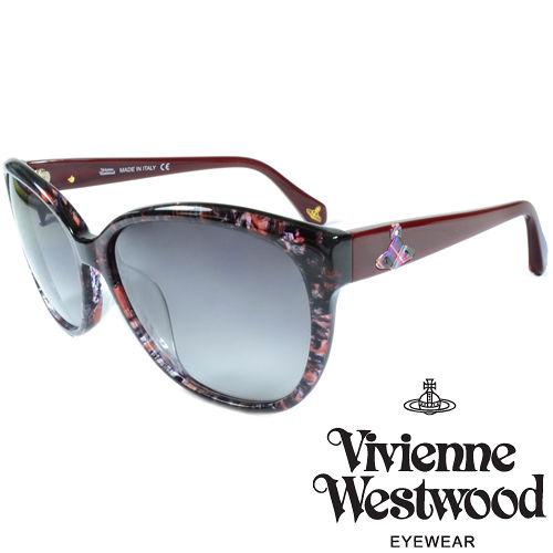 Vivienne Westwood 英國薇薇安魏斯伍德大理石紋面土星太陽眼鏡^(紅^) V